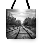 Switching Tracks Leaving Leafing Tote Bag