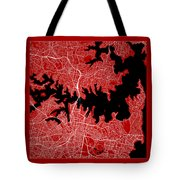 Sydney Street Map - Sydney Australia Road Map Art On Color Tote Bag