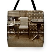 Table And Chairs Tote Bag