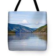 Taiga Hills At Yukon River Near Dawson City Tote Bag