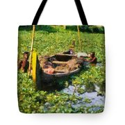 Taking Mud From The Bottom Of The Canal Tote Bag