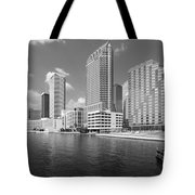 Tampa Skyline From Hillsborough River Tote Bag