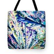 Tartaric Acid Crystals In Polarized Light Tote Bag