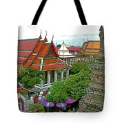 Temple Of The Dawn-wat Arun In Bangkok-thailand Tote Bag