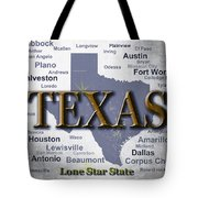 Texas State Pride Map Silhouette  Tote Bag