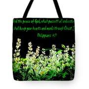 The Bible Philippians 4 Tote Bag