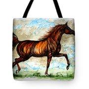 The Chestnut Arabian Horse Tote Bag