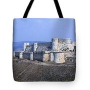 The Crusader Castle Krak Des Chevaliers Syria Tote Bag