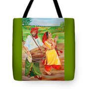 The Dhol Player Tote Bag
