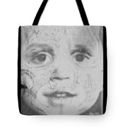 The Face In Black And White Tote Bag