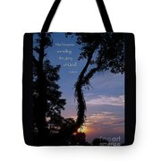 The Heavens Are Telling Tote Bag