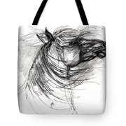 The Horse Sketch Tote Bag