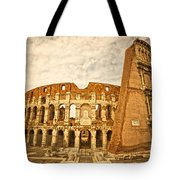 The Majestic Coliseum - Rome Tote Bag by Luciano Mortula