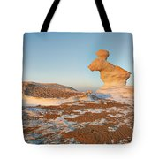 The Rabbit Stone Formation In White Desert Tote Bag