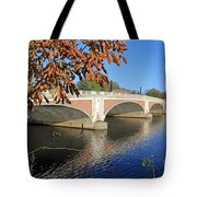 The River Thames At Hampton Court London Tote Bag