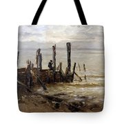 The Sea At Villerville Tote Bag