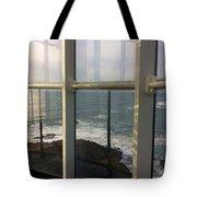 Through Lighthouse Window  Tote Bag