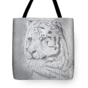 Tiger Watching Tote Bag
