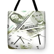 Time Is Money Concept Tote Bag by Les Cunliffe