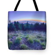 Top Of Mount Mitchell After Sunset Tote Bag