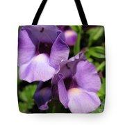 Torenia Named Purple Moon Tote Bag
