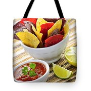 Tortilla Chips And Salsa Tote Bag