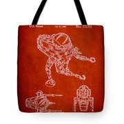 Toy Space Vehicle Patent Tote Bag
