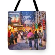 Traditional Shopping Area Tote Bag