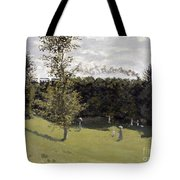 Train In The Countryside Tote Bag