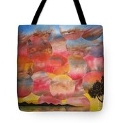 Tranquility With Tree Tote Bag