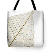 Transparent Leaf Tote Bag