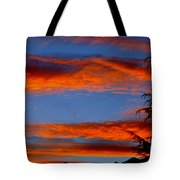 Tree In Sunset Tote Bag