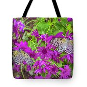 2 Tree Nymph Butterflies Tote Bag