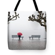 Trees And Benches Tote Bag