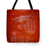 Trumpet Patent From 1939 - Red Tote Bag