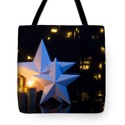 Two Stars With Gold Candles Tote Bag