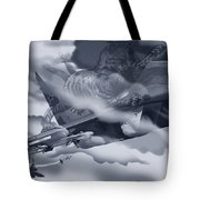 Two-tailed Tomcat Tote Bag