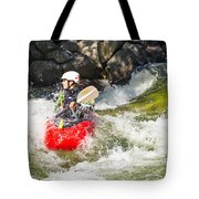 Two Whitewater Kayaks Tote Bag
