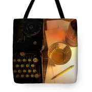 Typewriter And Whiskey Tote Bag