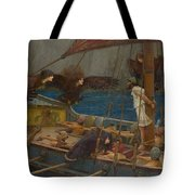 Ulysses And The Sirens Tote Bag