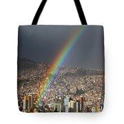 Urban Rainbow La Paz Bolivia Tote Bag