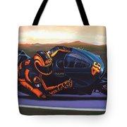 Valentino Rossi On Ducati Tote Bag