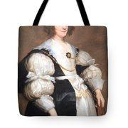 Van Dyck's Lady With A Fan Tote Bag