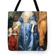 Van Dyck's Queen Henrietta Maria With Sir Jeffrey Hudson Tote Bag