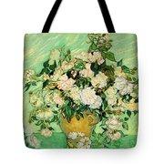 Van Gogh's Roses Tote Bag