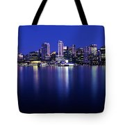 Vancouver Skyline At Night, British Tote Bag