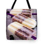 Vanilla And Blueberry Popsicles Tote Bag