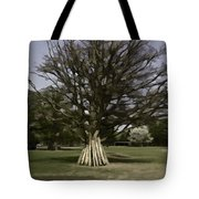 Vehicles Moving Through The American Bison Area Tote Bag