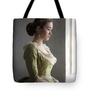 Victorian Woman At The Window Tote Bag