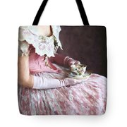 Victorian Woman Taking Tea Tote Bag
